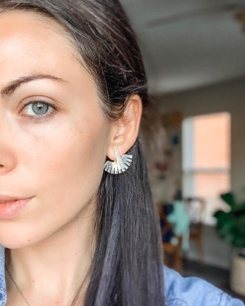 woman wearing earrings favorite things link