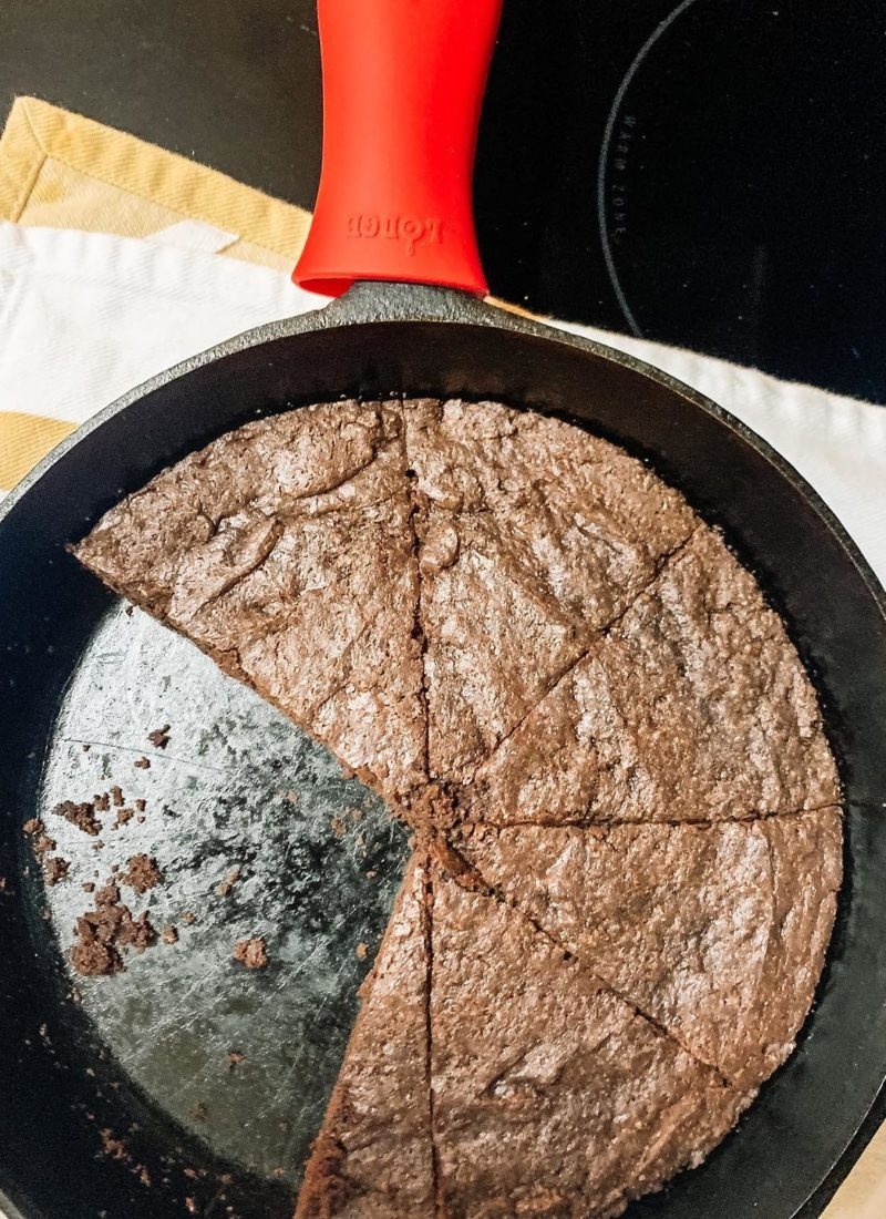 vegan skillet brownies