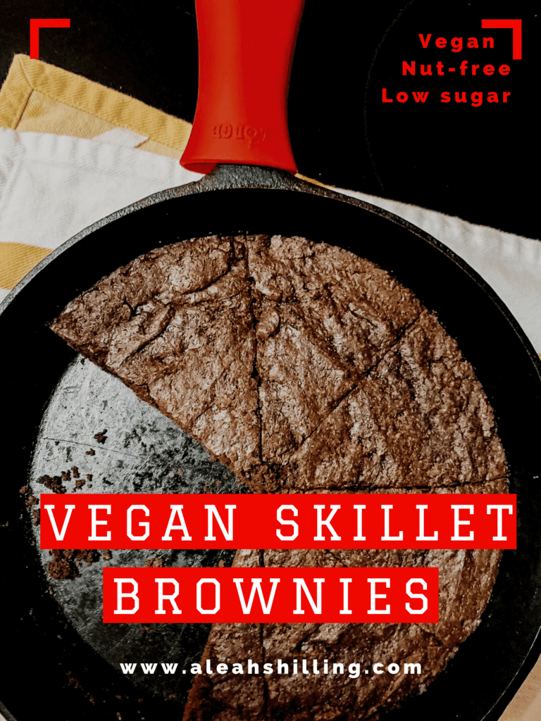 vegan skillet brownie recipe