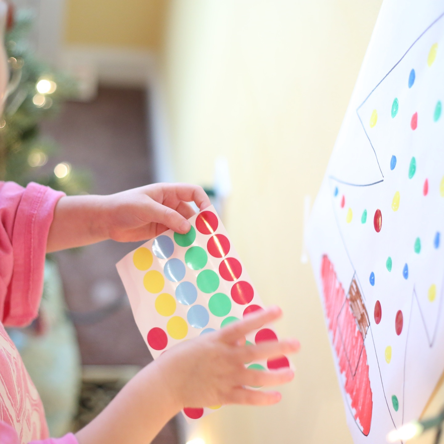 Montessori Christmas Activity for Toddlers – Color Matching