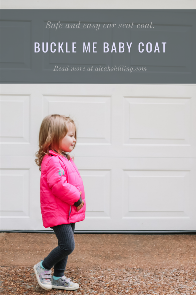 toddler modeling her buckle me baby coats