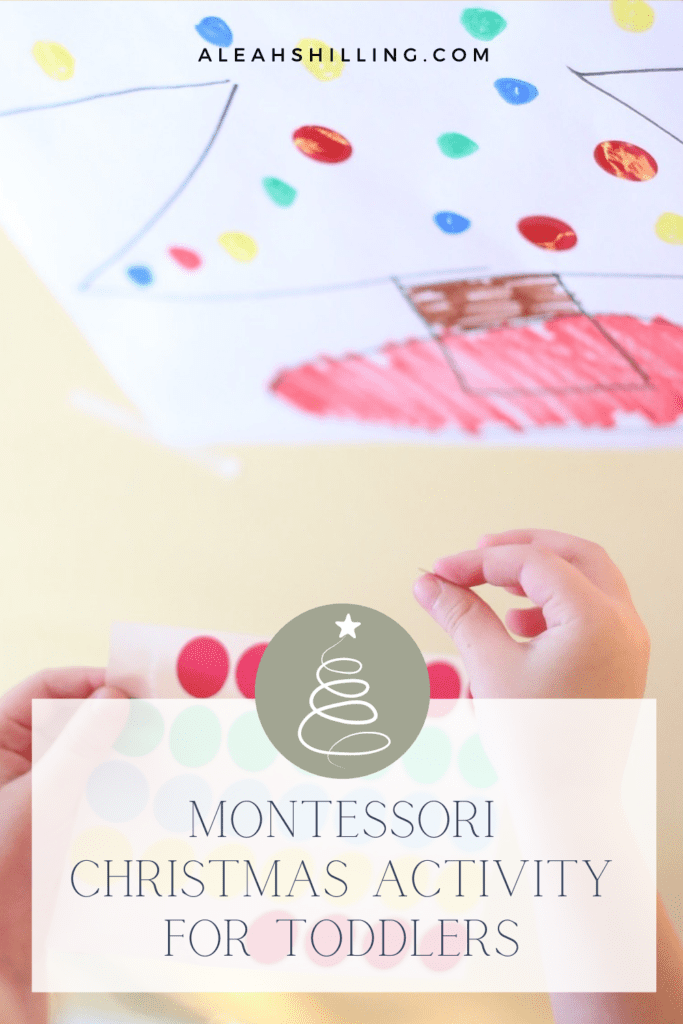 montessori christmas activity for toddlers color matching